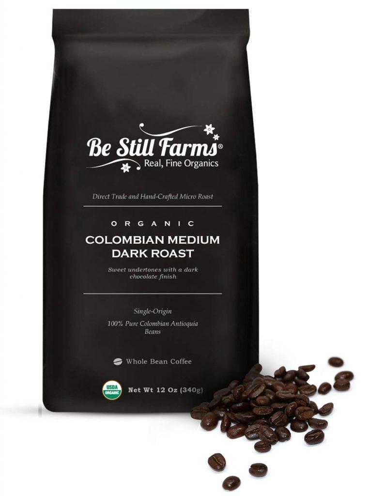Be Still Farms Organic Colombian Coffee (12 oz) Medium Dark Roast Coffee Colombian Coffee