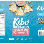 Kibo Chickpea Chip Label