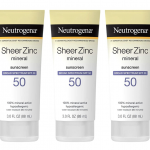 Neutrogena Sheer Zinc Oxide Dry-Touch Sunscreen SPF 50, 3 oz, Pack of 3