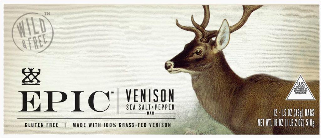 EPIC Venison Sea Salt & Pepper Bars