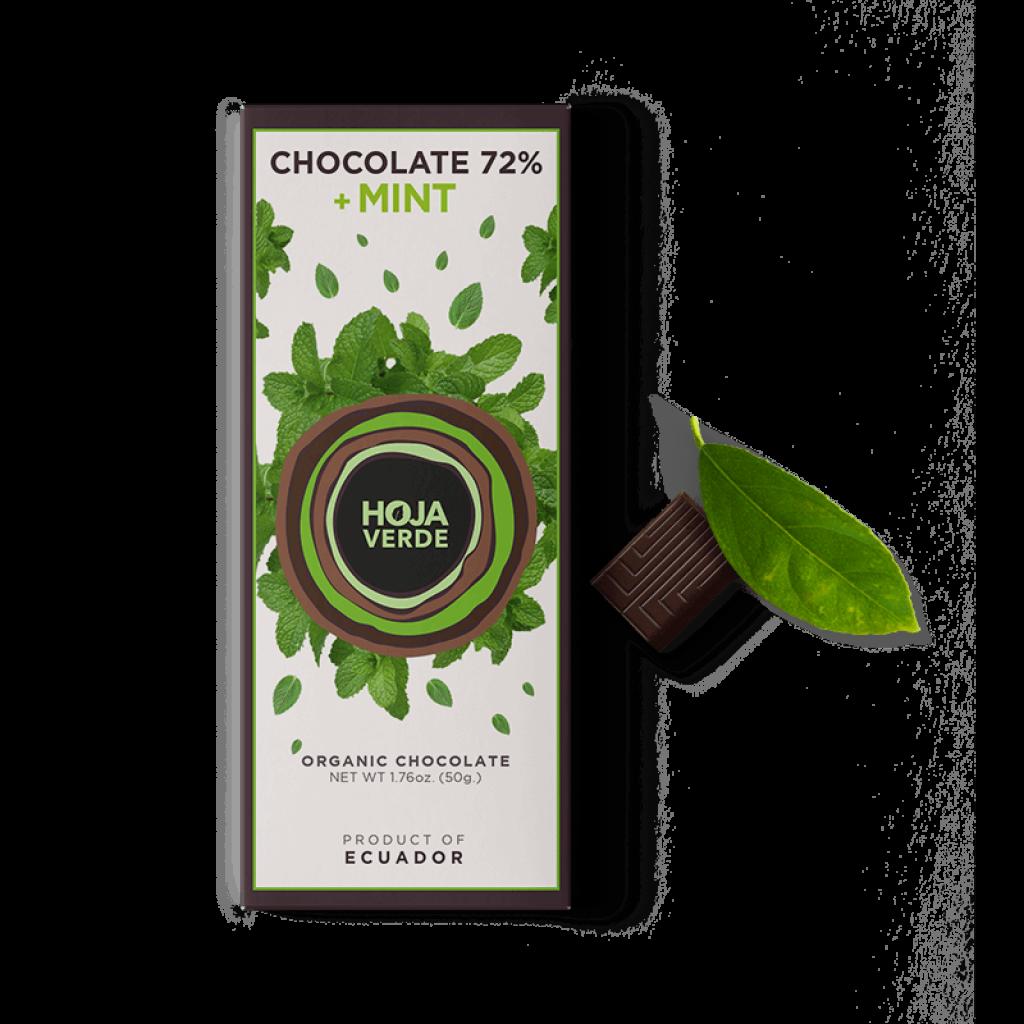 Hoja Verde Chocolate 72% + Mint