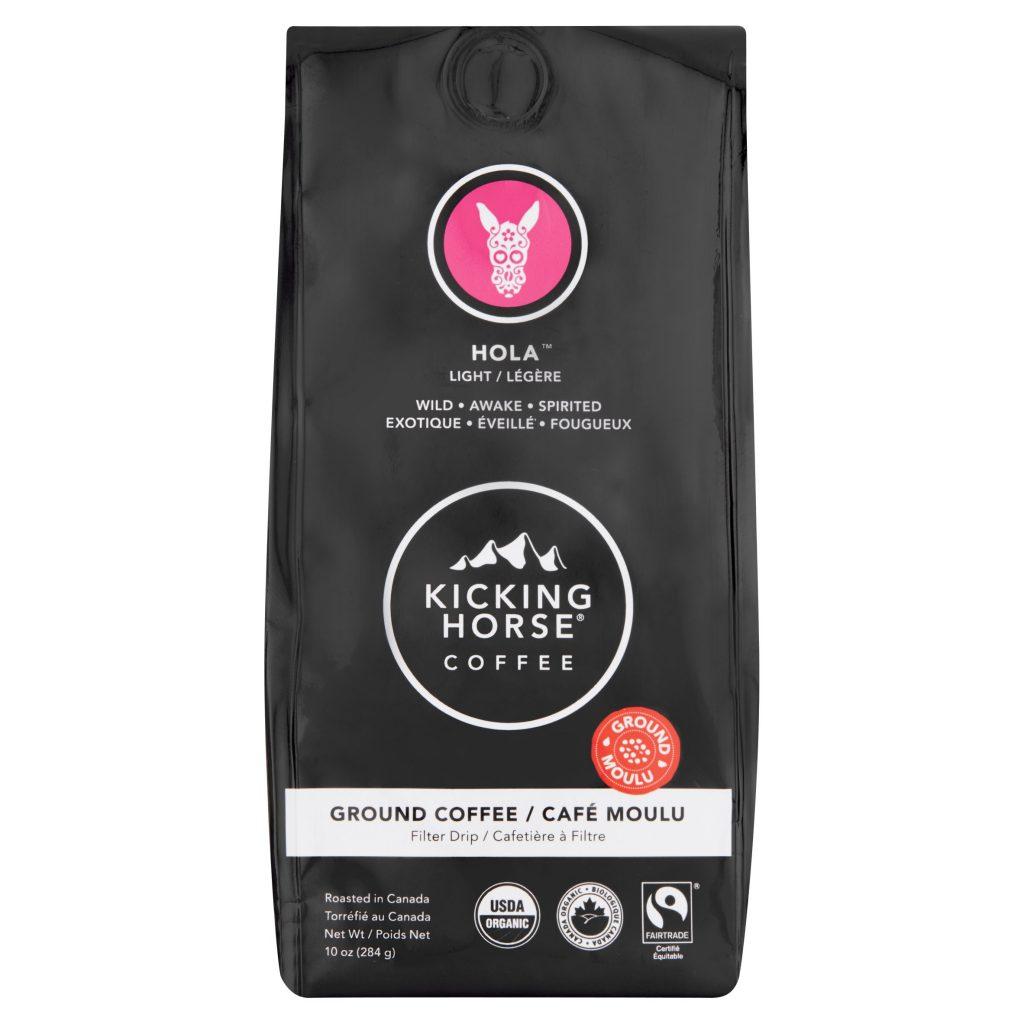 Organic Kicking Horse Coffee, Hola, Light Roast, Ground, 10 oz, for $4.39