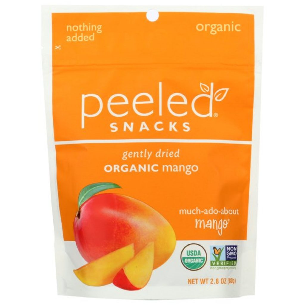 peeled organic mango