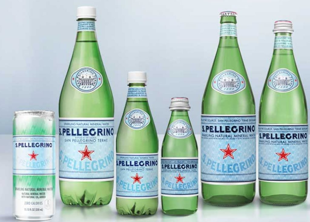 S.Pellegrino sparkling mineral water packaging options