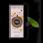 Organic Hoja Verde Chocolate 72% Roses & Lemon