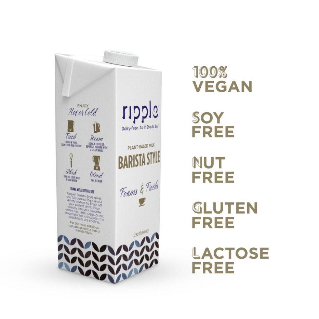 Ripple Shelf Stable Vegan Milk, Barista Style