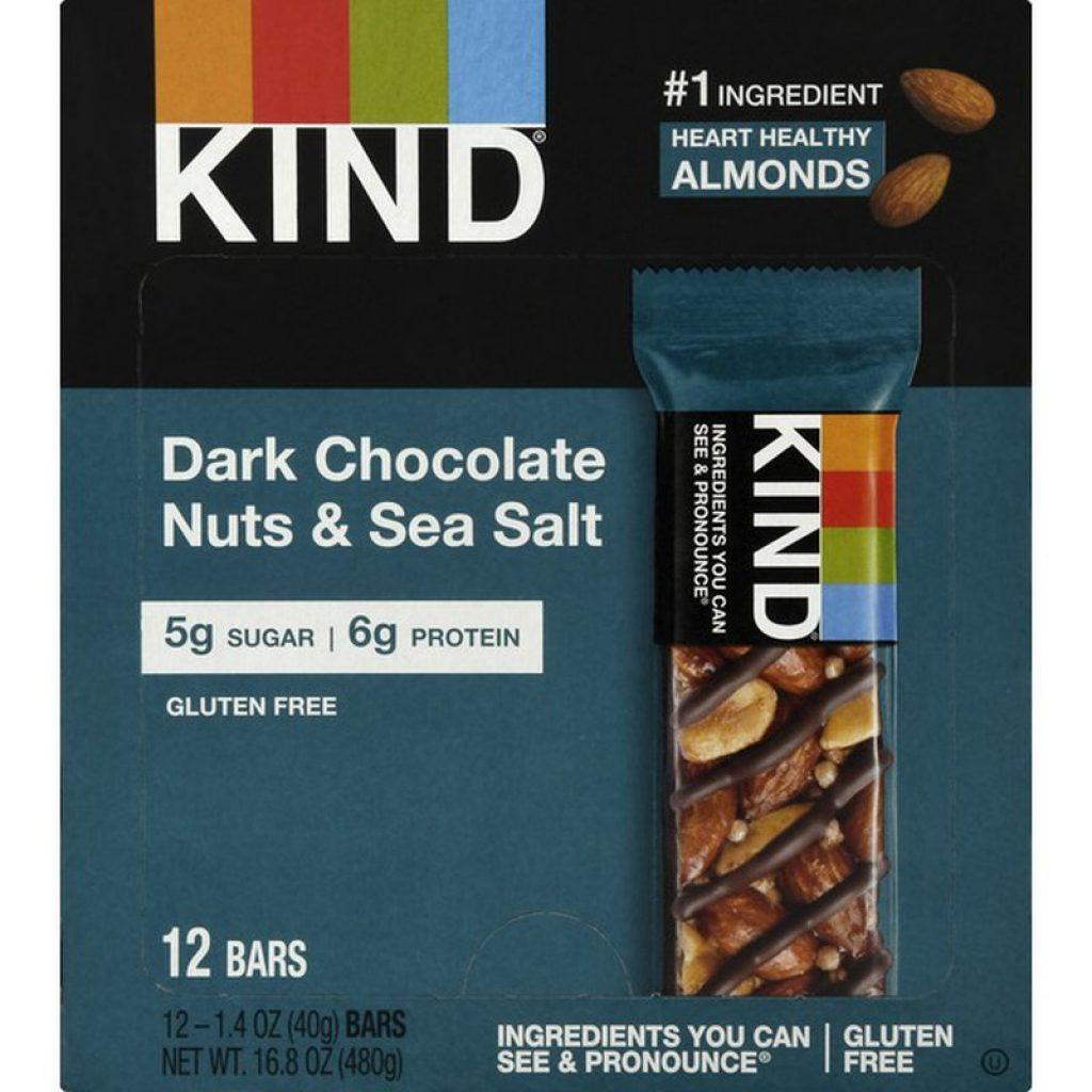 KIND Bars, Dark Chocolate Nuts & Sea Salt, 12 Count