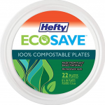 Hefty EcoSave Round 100% Compostable Paper Plates