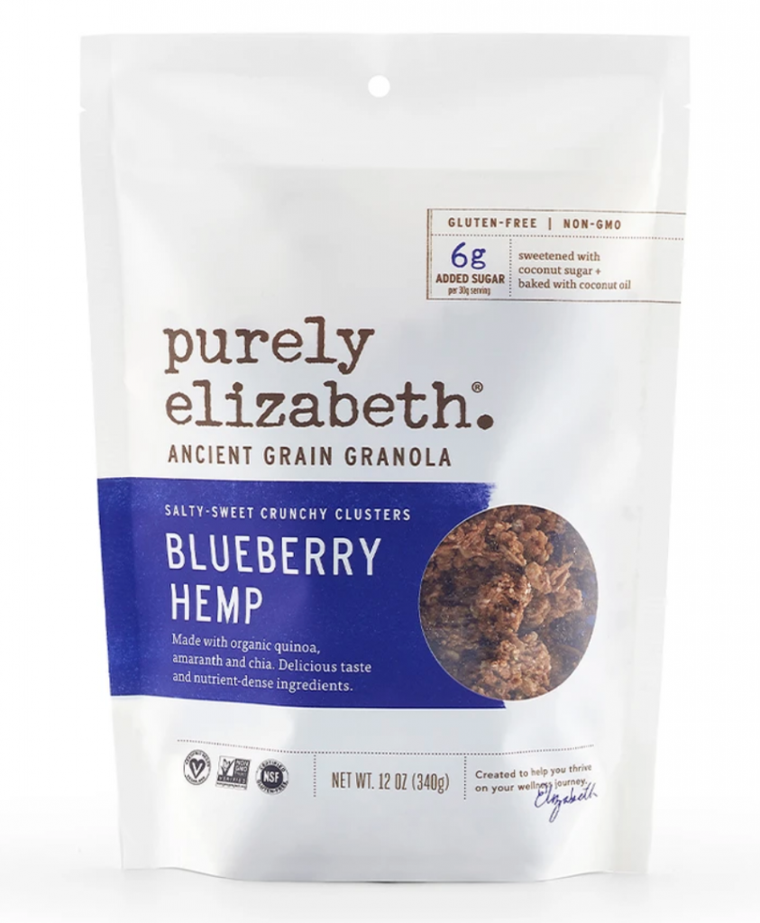 Purely Elizabeth Ancient Grain Granola Cereal Blueberry Hemp