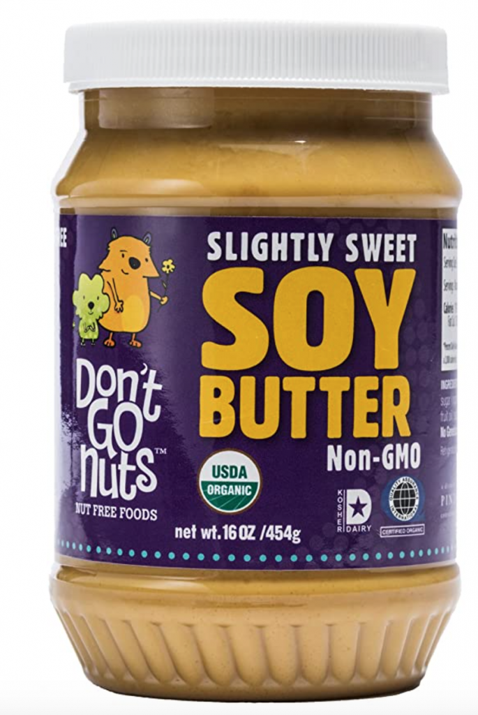 Don't Go Nuts Roasted Soybean Spread, Slightly Sweet