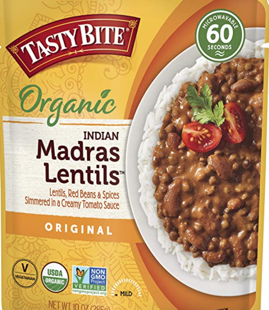 Tasty Bite Indian Entree Madras Lentils